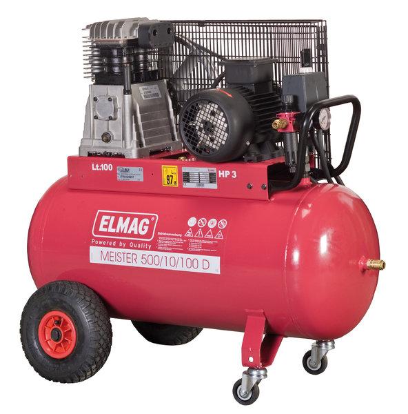 elmag kompressor typ meister 500 10 100d 400v 2 2kw. Black Bedroom Furniture Sets. Home Design Ideas